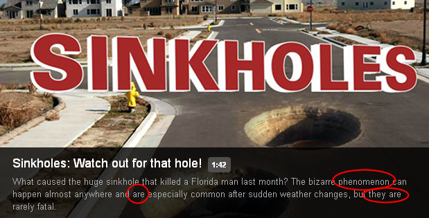 news sinkholes who knew