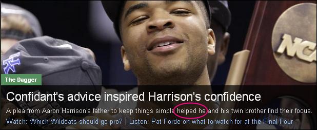 helped he sports
